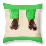 Shoe Work Throw Pillow