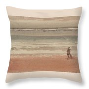 Shore Scene Throw Pillow