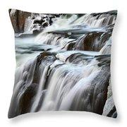 Shoshone Falls Close Up Throw Pillow