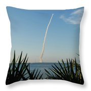 Shuttle Launch Throw Pillow