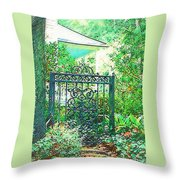 Side Gate Throw Pillow