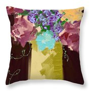 Sienna Floral Throw Pillow