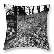 Sign In The Forest Throw Pillow