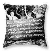 Silent Film: Little Rascals Throw Pillow