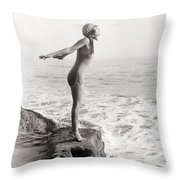 Silent Still: Bather Throw Pillow