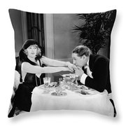 Silent Still: Hand Kissing Throw Pillow