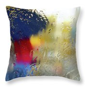 Silhouette In The Rain Throw Pillow