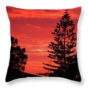 Simple Sunset Throw Pillow