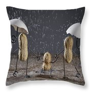 Simple Things - Taking A Walk Throw Pillow