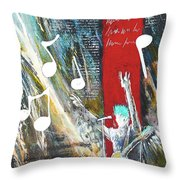 Singer Throw Pillow
