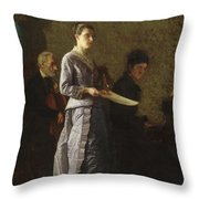 Singing A Pathetic Song Throw Pillow