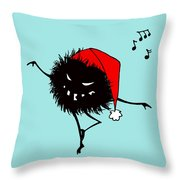 Singing And Dancing Evil Christmas Bug Throw Pillow