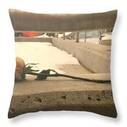 1 Single Lonely Rose Throw Pillow