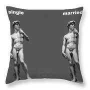 Singlemarried Png Throw Pillow