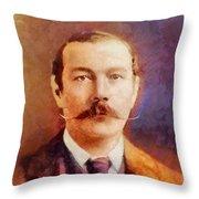 Sir Arthur Conan Doyle, Literary Legend Throw Pillow