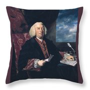 Sir James Hodges Throw Pillow
