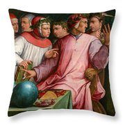 Six Tuscan Poets Throw Pillow