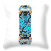 Skateboard Design Throw Pillow