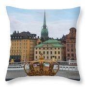 Skeppsholmsbron - Stockholm Throw Pillow