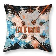 Skies Of California Throw Pillow