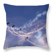 Sky Surfers Throw Pillow