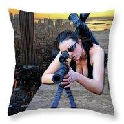 Skyline Assassin  Throw Pillow by Jon Volden