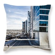 Skyscraper Architectural Details And Structures In Oslo Throw Pillow