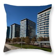 Skyscrapers In A City, Illa De La Llum Throw Pillow
