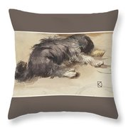 Slapende Hond Throw Pillow