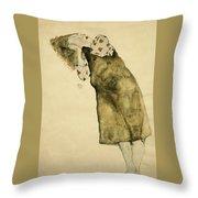 Sleeping Girl Throw Pillow
