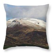 Slieve Mish Mountain In Snow Throw Pillow