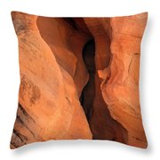 Slot Cave Valley Of Fire Throw Pillow