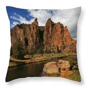 Smith Rock State Park - Oregon Throw Pillow