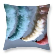 Smoke Painting Throw Pillow