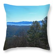 Smokey Mountains Throw Pillow