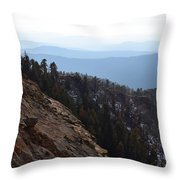 Smoky Evening Vista Over Kings Canyon Throw Pillow