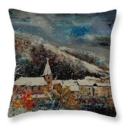 Snow In Bohan Throw Pillow