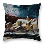 Snow In Chassepierre Throw Pillow