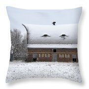 Snow On The Roof Throw Pillow
