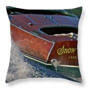 Snow Water Throw Pillow