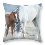 Snow White And Valentino Throw Pillow