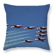 Snowbirds In Flight Throw Pillow