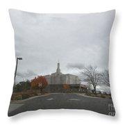 Snowflake Mormon Temple Throw Pillow