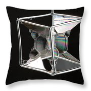 Soap Films On A Cube Throw Pillow