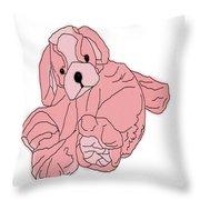 Soft Puppy Pink Throw Pillow