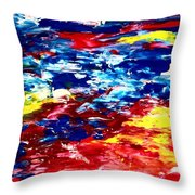 Soft Strokes Aesthetic Sunset Throw Pillow