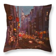 Soho Artistic Dreams Throw Pillow