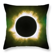 Solar Eclipse In Infrared Throw Pillow