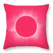 Solar Eclipse In Pink Color Throw Pillow