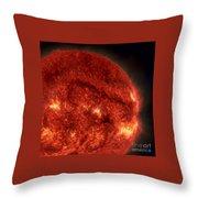 Solar Filament Throw Pillow